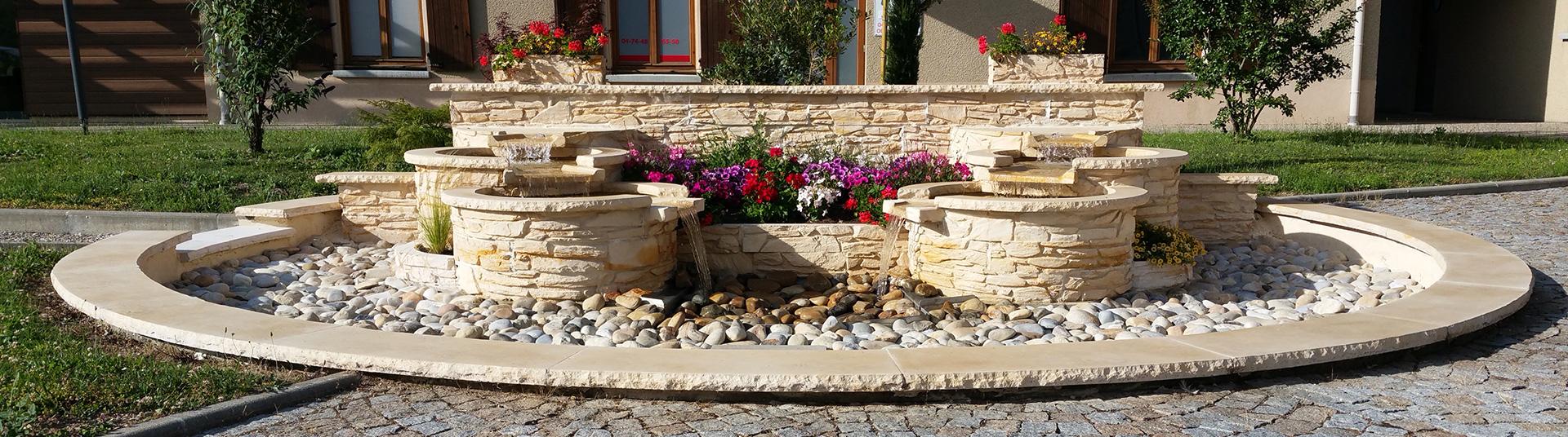 fontaine en pierre reconstitu e pour ext rieur fontaine murale. Black Bedroom Furniture Sets. Home Design Ideas