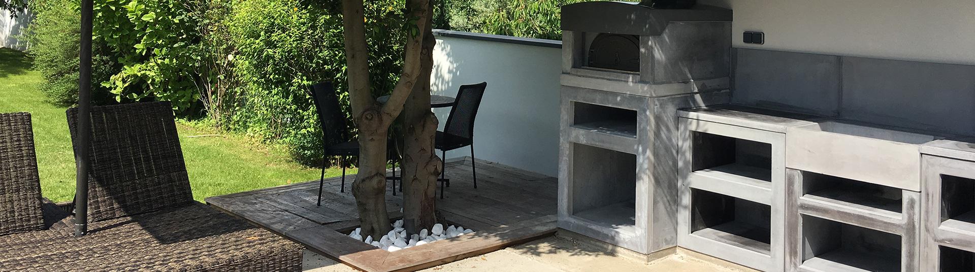 Cuisine Exterieure En Pierre cuisine d'été extérieure en pierre reconstituée sur mesure