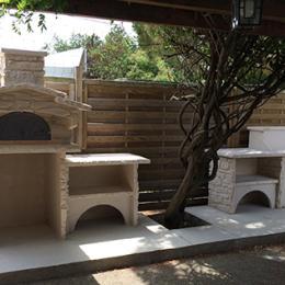 Nos r alisations de cuisine d 39 t en pierre four pain et pizza la pierre d 39 antan - Cuisine d ete en pierre reconstituee ...