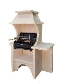 BELLEFOND VERCORS Ardoise, Veinage Bourgogne, Hotte Vercors Ardoise, Grill Mendy Acier 600 mm