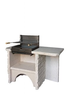 BELLEFOND Pierre sèche, Veinage Bourgogne, Sans hotte, Grill Montory Acier 600 mm