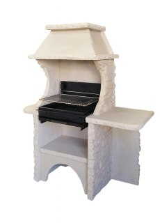 barbecue en pierre reconstitu e avec grill barbecue en dur. Black Bedroom Furniture Sets. Home Design Ideas