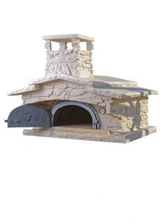 Four à bois en fonte Bois d'Antan Chav 6755 S habillage Pierre sèche, Ton pierre