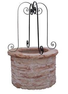 Puits decoratif en pierre reconstituee