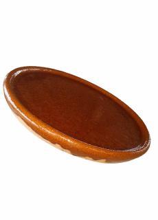 chuleton, plat pour four à bois, terre cuite émaillée