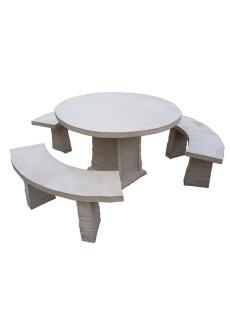 Table De Jardin En Pierre Reconstituée Banc En Pierre Salon