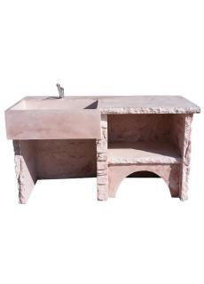 evier en pierre reconstitu e pour cuisine d 39 t ext rieure. Black Bedroom Furniture Sets. Home Design Ideas