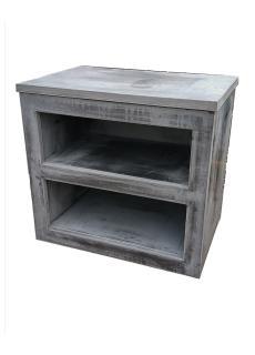 meuble plan de travail pour cuisine d'été en pierre contemporaine