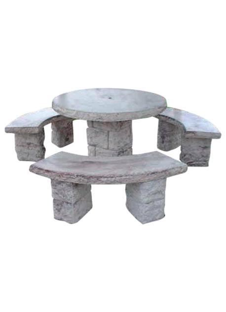 salon de jardin imitation pierre seche