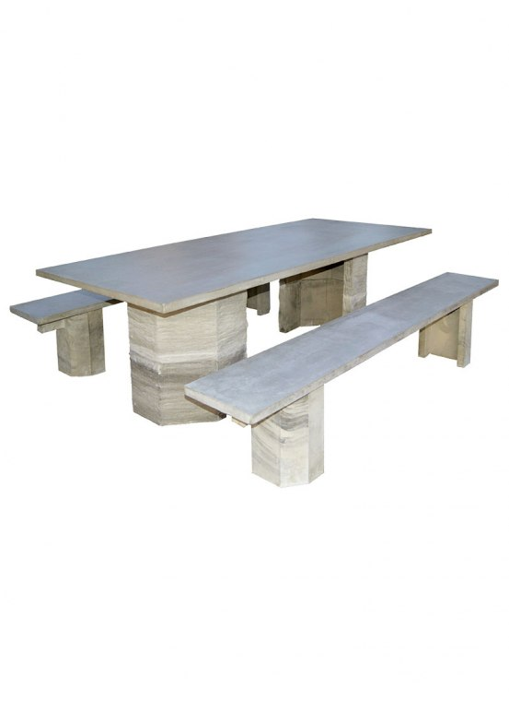 table exterieur pierre reconstituee