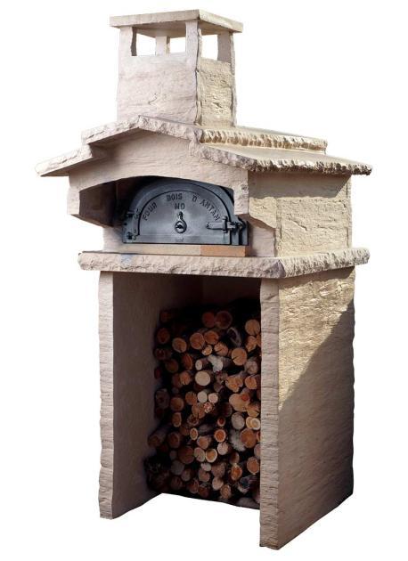 Four à bois d'Antan Chav 6755 en fonte habillage Ardoise, Veinage Gris