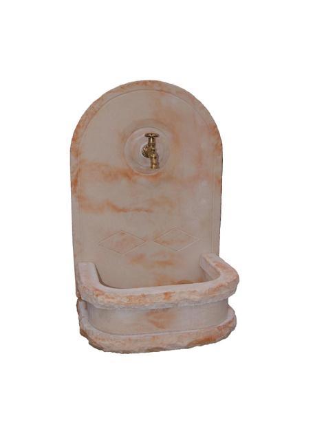 fontaine murale en pierre reconstituee