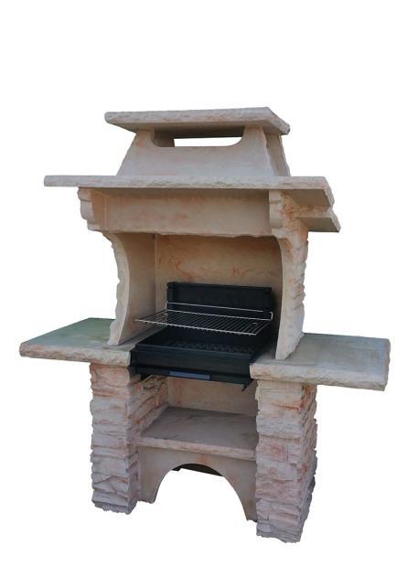 Barbeue fixe en pierre reconstituée
