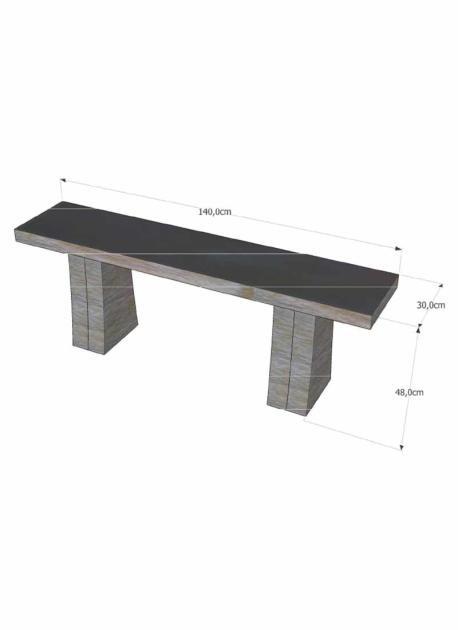 banc en pierre reconstitu e pour table et cuisine d 39 t. Black Bedroom Furniture Sets. Home Design Ideas
