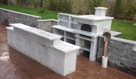 Comment am nager une cuisine d t dans son jardin for Bar exterieur en pierre
