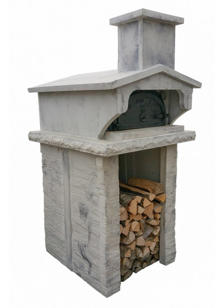 four à bois en fonte 6755 avec habillage treto 6755