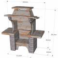 barbecue en pierre valbonais à foyer horizontal