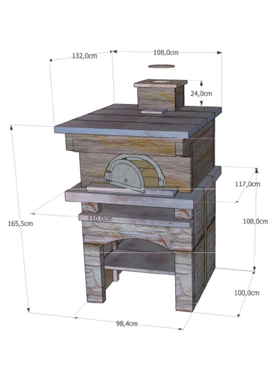 four bois d antan 8575 en fonte habillage pierre reconstitu e. Black Bedroom Furniture Sets. Home Design Ideas