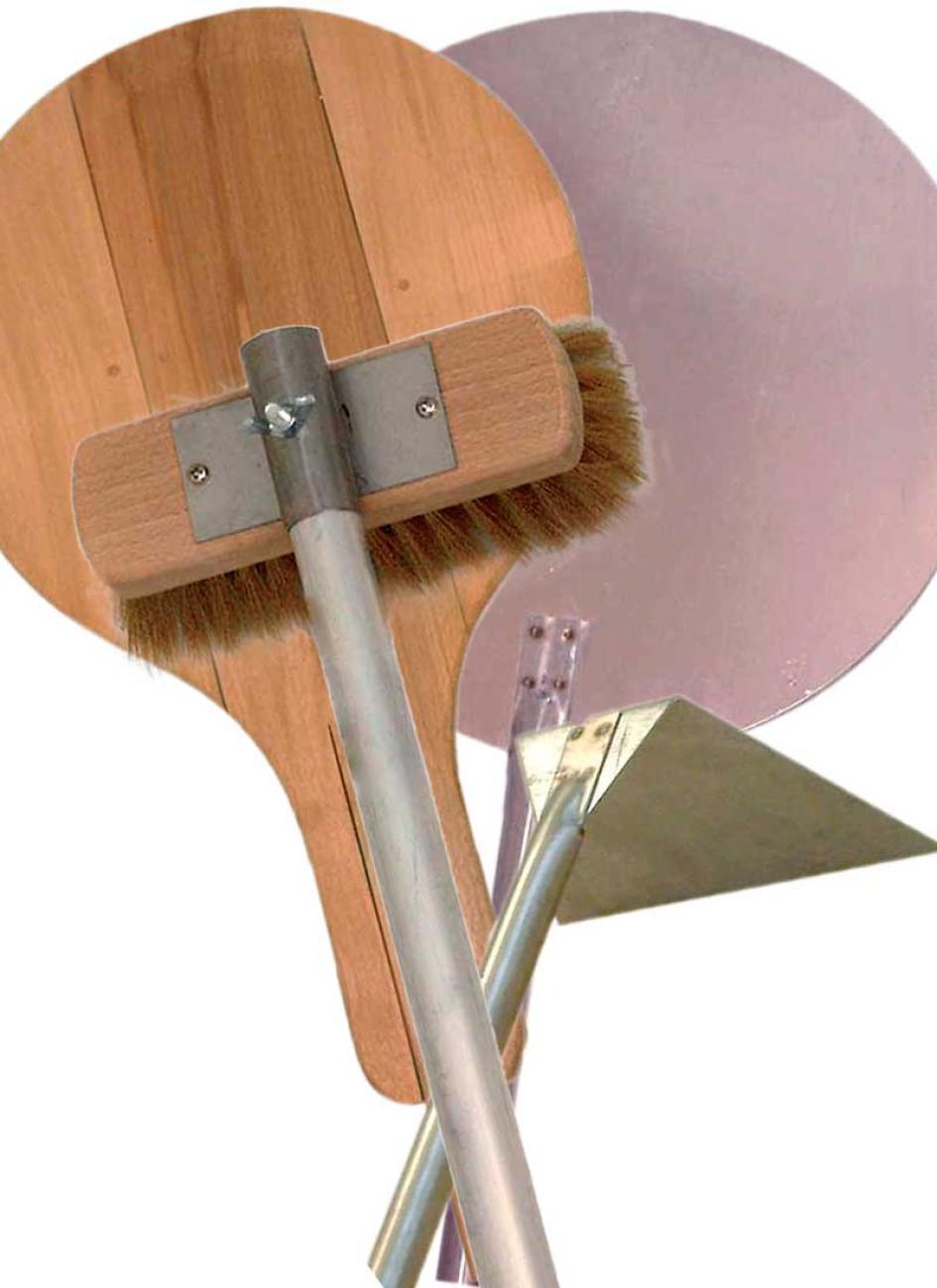Thermomètre Four À Pain 500 accessoires four à pain, pelle bois, pelle inox, balayette