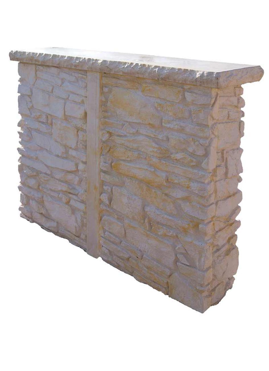 bar en pierre reconstituée pour cuisine d'été - la pierre d'antan