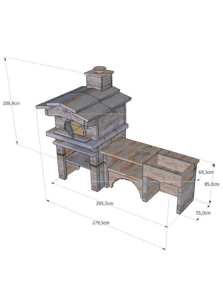 cuisine d t ext rieure en pierre avec four pain vier. Black Bedroom Furniture Sets. Home Design Ideas