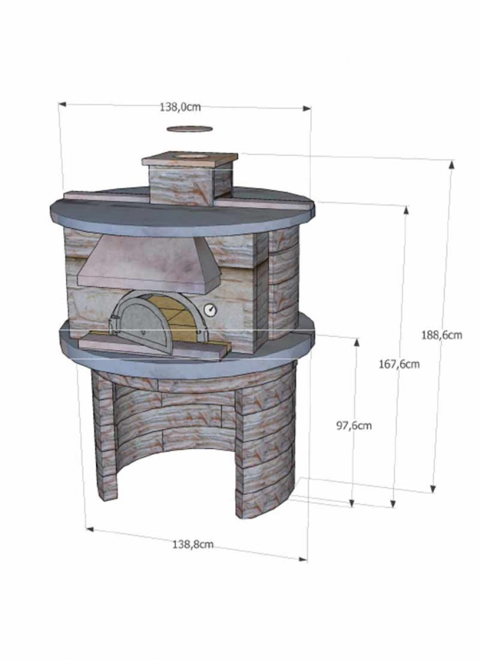 four pain four bois nyls 8575 habillage pierre reconstitu e. Black Bedroom Furniture Sets. Home Design Ideas