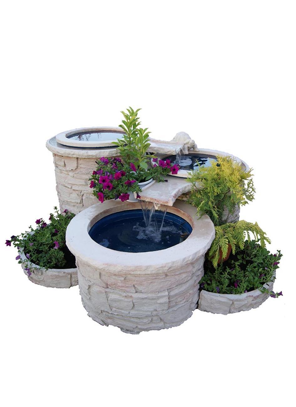 Bassin Fontaine De Jardin fontaine de jardin en cascade en pierre reconstituée - 3 bassins
