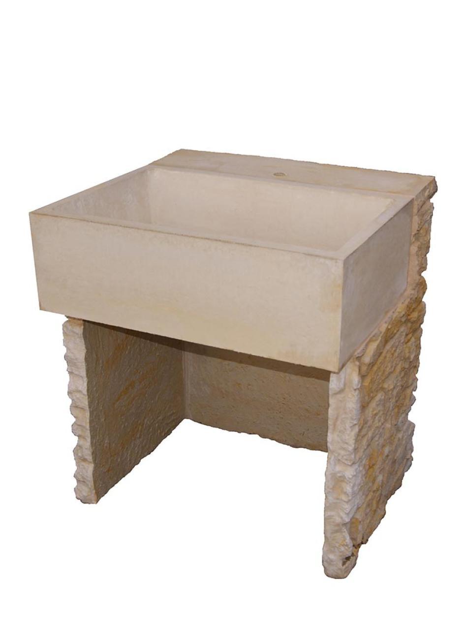 Evier en pierre reconstituée La Pierre d\'Antan pour cuisine d\'été