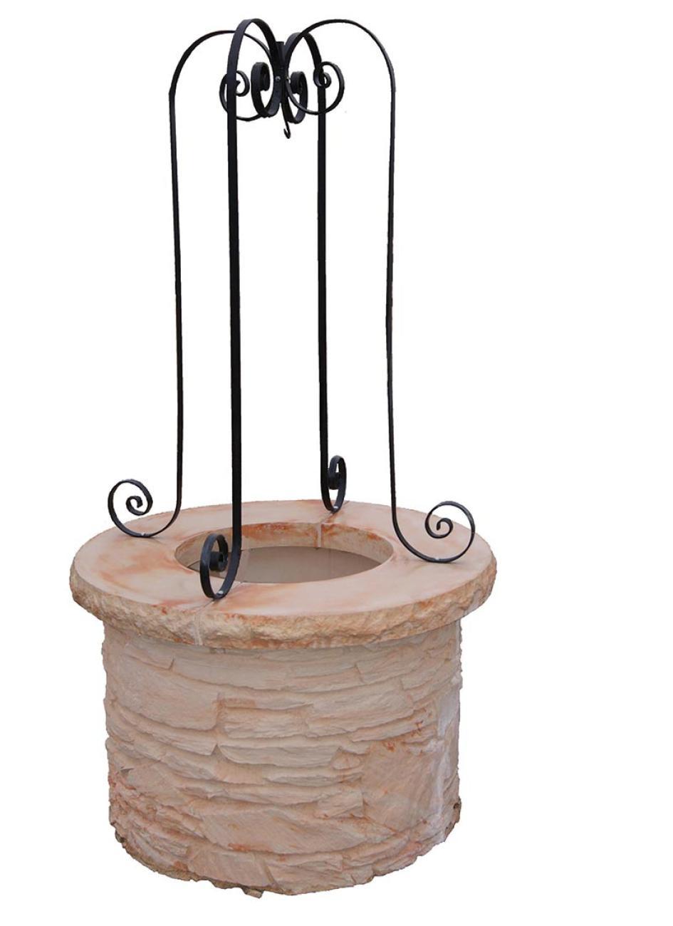 Puits décoratifs en pierre reconstituée pour jardin extérieur