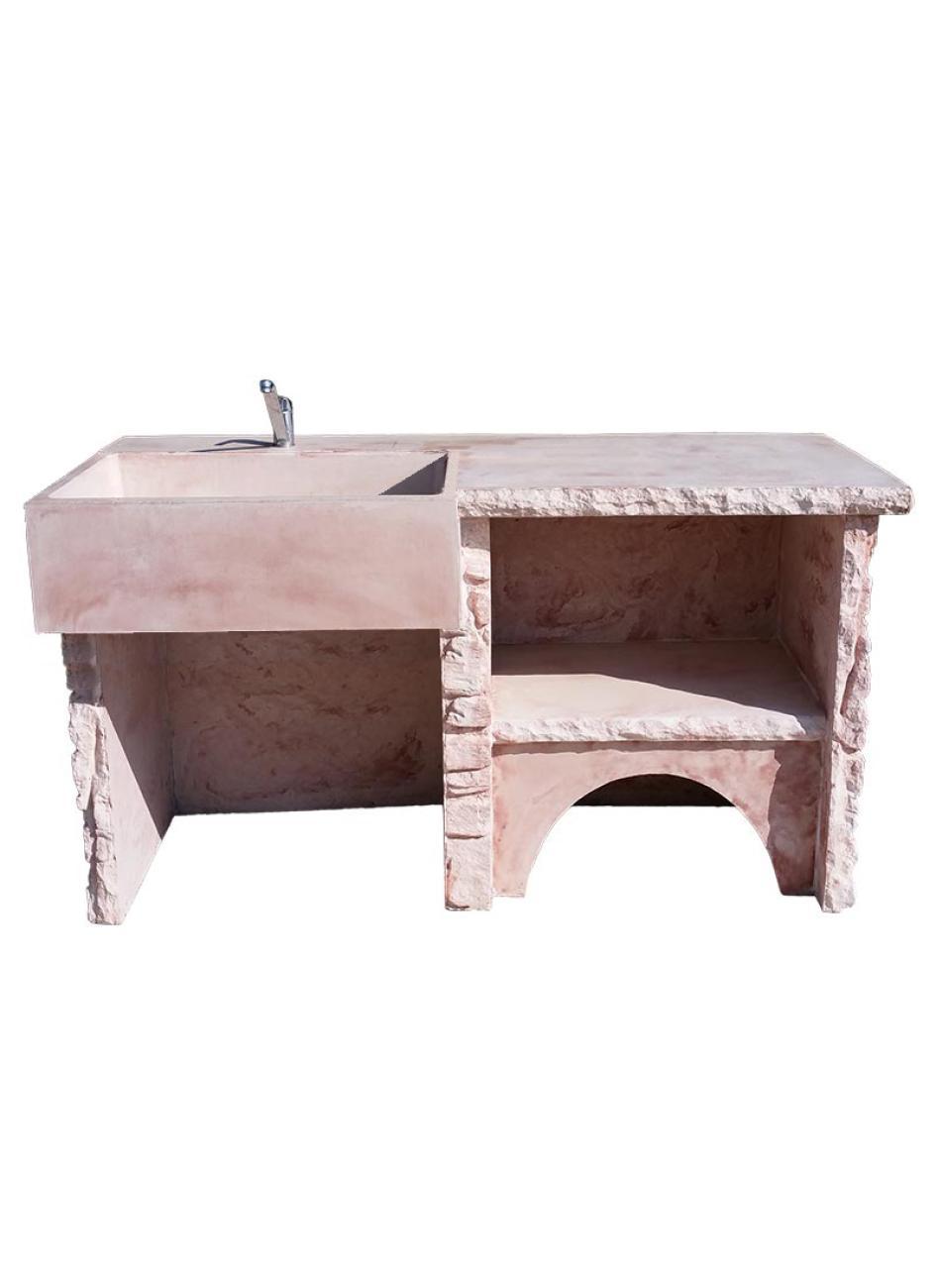 Trendy evier perretire avec plan de travail with plan de travail cuisine extrieure - Plan de travail exterie ur en beton ...
